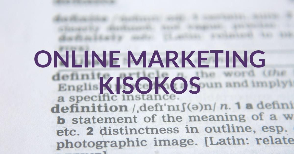 Online marketing kisokos
